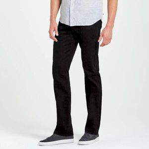 AG The Protege Super Black Sueded Straight Leg